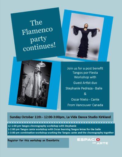 Tangos Por Fiesta Flamenco Workshop Flyer