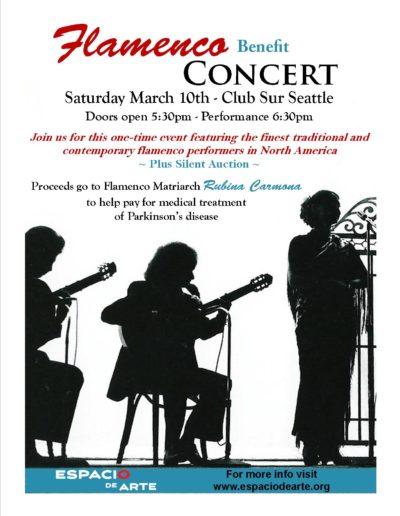 Flamenco Benefit Concert Flyer